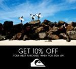 Quiksilver - 10% Off Sitewide + Free Shipping