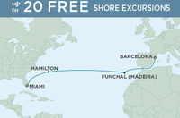 14-Nt Luxe Transatlantic Cruise w/Air, Excursions