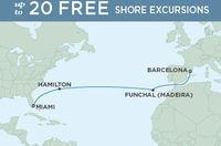 14-Nt Luxe Transatlantic Cruise w/Air, Excursions