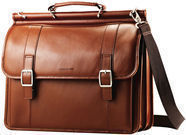 Samsonite Leather Dowel Flapover Business Case