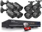 Sannce 8-Channel 720p Security Camera DVR System with 1TB HD