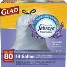 Glad OdorShield 13-Gallon Kitchen Trash Bag 80-Pack