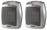 Lasko Ceramic Heater w/ Adjustable Thermostat, 2-Pack