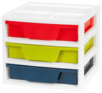 IRIS 3 Drawer Activity Station with Organizer Top