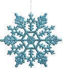 Glitter Snowflake Ornaments - Set of 24