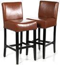 Charlton Home 29 Leather Bar Stool - Set of 2