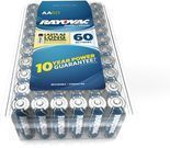 Rayovac Alkaline AA Batteries 60-Pack
