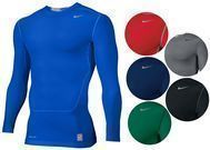 Nike Men's Pro Combat Long Slv Compression Shirt - 7 Colors