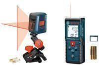Bosch 100-Foot Laser Measure + 30-Foot Cross-Line Laser Kit