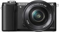 Sony Alpha a5000 Mirrorless Camera w/ 16-50 Retractable Lens