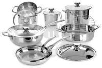 Wolfgang Puck 14 Pc Stainless Steel Cookware Set WP14PC0816