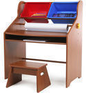 Tot Tutors Focus Wood Art Activity Desk and Stool Set