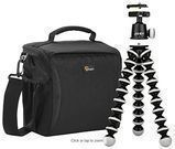 Lowepro Format 160 Shoulder Camera Bag + Joby Tripod
