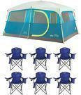 Coleman Tenaya Lake 8 Person Instant Cabin Tent w/ 6 Chairs