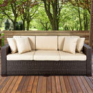 Best Choice Products Outdoor Brown Wicker Patio Sofa