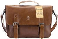 Berchirly Vintage PU Leather Briefcase