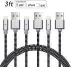 Pack of 3 Braided Lightning Cables