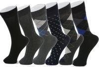 Alpine Swiss 6 Pack Men's Cotton Mid-Calf Socks