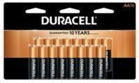 Duracell Coppertop Alkaline AA Batteries 16-Pack