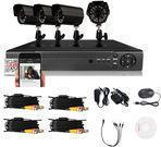 4-Channel 4-Camera 900TVL 960H DVR IR Home Security System