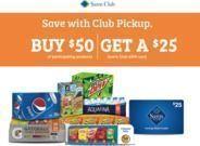 Sam's Club - Free $25 Sam's eGift Card w/ $50+