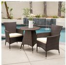 Melissa Outdoor 3pc. Wicker Bistro Set (Brown)