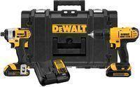 DEWALT 20V Cordless Drill + Impact Combo Kit w/ Accessories