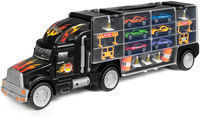 Transport Car Carrier Semi Truck Toy w/ 18 Cars