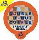 Double Donut Breakfast Blend K-Cup Coffee 80-Count