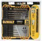 14-Piece DeWALT Pilot Point Cobalt Drill Bit Set