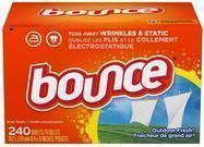 Bounce 240-Count Fabric Softener and Dryer Sheets Box